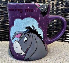 Winnie The Pooh - Eeyore Purple Mug Winnie The Pooh Mug, Winnie The Pooh Friends, Pooh Bear, Disney Winnie The Pooh, Tigger, Disney Cups, Disney Art, Disney Stuff, Eeyore Quotes