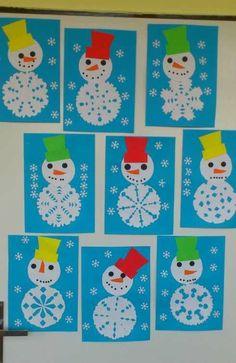 Snowflakes art, snowflake craft, winter fun, winter theme, winter activities for kids Kids Crafts, Winter Crafts For Kids, Toddler Crafts, Preschool Crafts, Art For Kids, Creative Crafts, Crafts For Preschoolers, Quick Crafts, Winter Kids