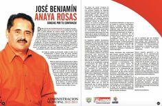 Mensaje del ing. Jose Benjamin Anaya Rosas