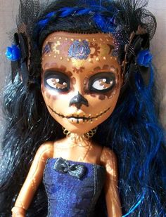 Monster High Robecca Day of the Dead Custom 2 by AdeCiroDesigns on DeviantArt