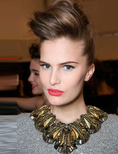 Rock Chick quiff and a statement necklace #hairmeetwardrobe