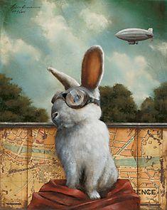 by Tyson Grumm, rabbit in goggles