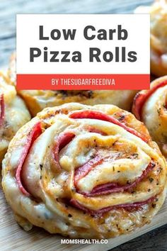 Low-Carb Pizza Rolls - Pizza is the kind of food that everybody loves. But how about Keto pizza – is that even possible with all the low carb requirements of the Ketogenic diet? You will be surprised with these amazing low carb pizza recipes I found for you! #keto #ketogenic #ketorecipes #lowcarb