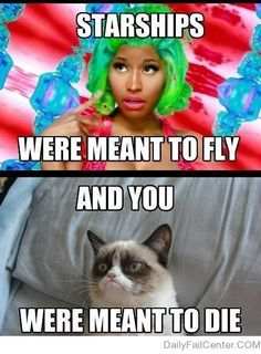 Grumpy Cat is wise. Nicki minaj is annoying. Oh look were all stating obvious facts! Lol