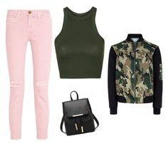 A fashion look from June 2016 featuring green top, camouflage jacket and ripped jeans. Browse and shop related looks. New Look, Polyvore Fashion, Topshop, Shoe Bag, Clothing, Stuff To Buy, Shopping, Collection, Design