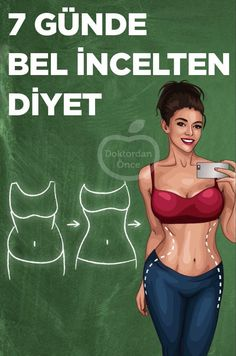 Bel İncelten 7 Günlük Diyet Listesi - Es Tutorial and Ideas Nutrition Day, Fitness Nutrition, 7 Day Diet, Weights For Women, Healthy Lifestyle Tips, Regular Exercise, Detox Recipes, Aerobics, Ways To Lose Weight