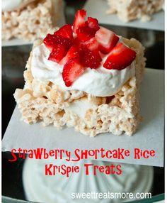 Strawberry Shortcake Krispie Treats - Yummy!