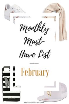 These are my monthly must-have items for February and I'm loving them! Check out the blog for more! #motherhood #mommy #sahm #parenting #mom #stayathomemom #fashion #fashionista #stylish #stylishmom