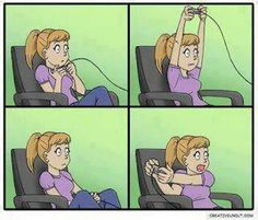 Yes, this is exactly what I look when I play video games...