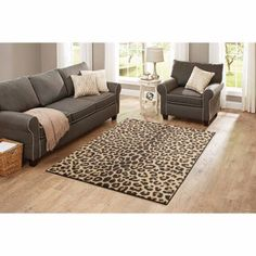 Better Homes and Gardens Cheetah Print Rug - Walmart.com
