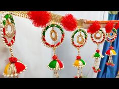 How to make bangle toran, ban… – Lighting Ideas Diwali Decoration Items, Thali Decoration Ideas, Handmade Decorations, Diwali Diy, Diwali Craft, Door Hanging Decorations, Flower Decorations, Rakhi Design, Homemade Dolls