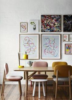 Casinha colorida: Muitas inspirações para uma sala de jantar vintage/retrô