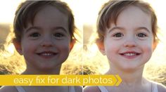 how to fix dark or underexposed photos with brightening