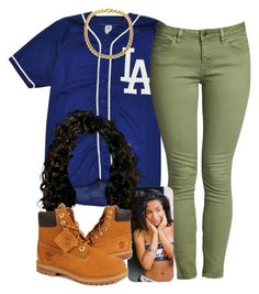 . by trillest-queen on Polyvore featuring polyvore fashion style Timberland clothing