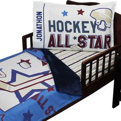 Customizable Hockey All Star - Toddler Bedding Set