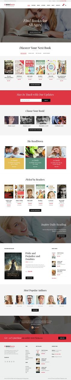 Booklovers theme has modern and functional design specially built for Publishing House or #Bookstore. The theme can be suitable for any Publishing service business or Book-Author official #website, it also can be interesting for Libraries, #Literary Clubs, Digital and Media online stores.