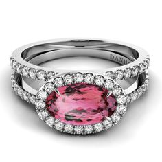 From Danhov's Per Lei collection, style LE106-OVEW featuring a blush topaz. #RadiantOrchid