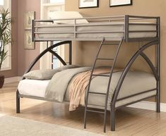 Coaster 460079 Bunks Series  Twin over Full Size Bunk Bed