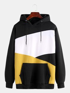 Newchic - Fashion Chic Clothes Online, Discover The Latest Fashion Trends Mobile Plain Hoodies, Cheap Hoodies, Cool Hoodies, Hoodie Sweatshirts, Sweat Cool, Site Mode, Yellow Hoodie, Look Cool, Clothes For Sale