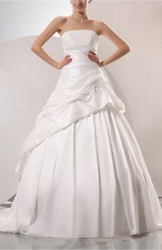 Cream Disney Princess Church Sleeveless Lace up Taffeta Chapel Train Pleated Bridal Gowns