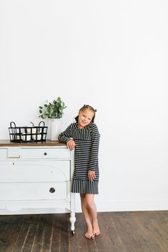 Stripes have never looked more fun! This navy blue and white striped dress is adorable and comfortable. Perfect for school, special events, and any occasion. Navy Blue, Blue And White, Family Picture Outfits, Dress Drawing, Our Girl, Family Pictures, Striped Dress, Special Events