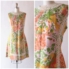 1960s Shifts Internationale of Miami bright by SchoolofVintage, $49.00