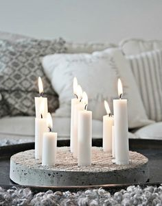 Concrete candelabra