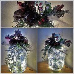 Winter Scene Gallon Jug LED Bottle Light by BottlesBeGlowing