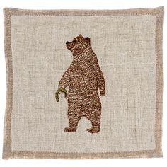 Coral and Tusk - lucky bear cocktail napkins