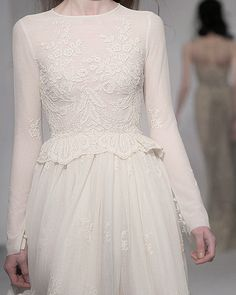 peplum, long sleeves and lace