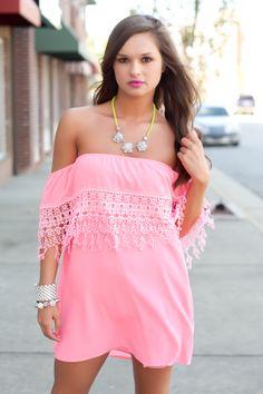 pink off the shoulder dress #swoonboutique