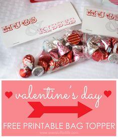 Hugs & Kisses Valentine Bag Topper | Overstuffed