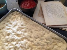 Sicilian pizza dough - Sicilian Pizza Dough from mom, with love 1 envelope quick rise active yeast (she used the cake yeast, which becomes active quicker, therefore I used the quick rise) teasp (Pizza Recipes Dough) Sicilian Pizza Recipe, Sicilian Style Pizza, Sicilian Recipes, Crust Recipe, Dough Recipe, Pizza Recipes, Cooking Recipes, Bread Recipes, Good Pizza