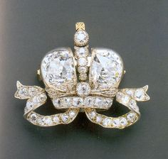 Grand Duchess  Elizabeth Diamond Brooch 1896 - given to her for the coronation by Nicholas II