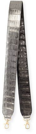 Nancy Gonzalez Two-Tone Crocodile Guitar Strap for Handbag