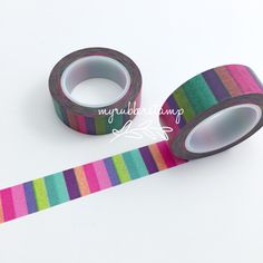 A fun addition to all your paper crafting projects and more! This decorative tape lets you add a little color and pattern to all your scrapbook and craft projects with this fabulous paper tape! Decora