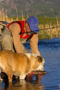 Fly fishing helper in Telluride. Photo by Ryan Bonneau.