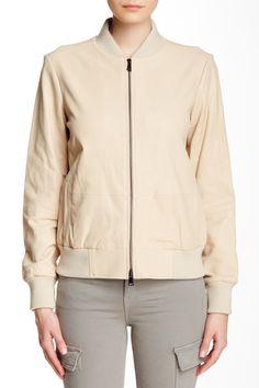 Leather Bomber Jacket by VINCE. on @nordstrom_rack