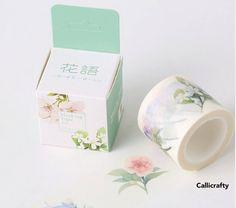 Watercolour Flower Japanese Washi Tape Masking Tape by Callicrafty