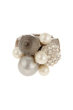 Pearl cluster stretch ring