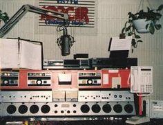 old radio automation board