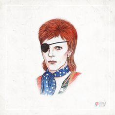 <p>David Bowie comemorou seu 68º aniversário no dia 8 de janeiro, e para marcar esta ocasião gloriosa, a ilustradora Helen Green criou um retrato animado em tributo ao artista. A rápida animação mostr