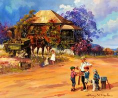 darcy doyle Australian Painting, Australian Artists, Pictures Of Insects, Australian Bush, Western Art, Art World, Love Art, Landscape Paintings, Beautiful Pictures