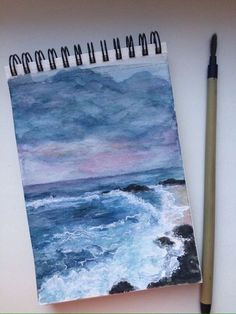 I like this painting because it shows amazing art skills, and it uses mostly pastel colors. I also like how the skyline blends in with the water. Art Watercolor, Watercolor Paintings Tumblr, Wow Art, Art Sketchbook, Watercolor Sketchbook, Sketchbook Designer, Fashion Sketchbook, Oeuvre D'art, Painting & Drawing