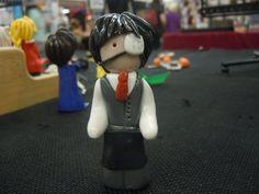 Ken Kaneki Tokyo Ghoul Ken Figure Polymer Clay Figure by laminartz