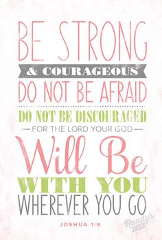 Perfect for Little boy encouragement! Joshua 1:9