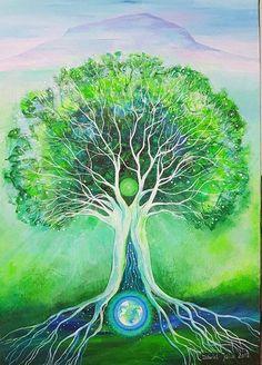David, Julia, Tree Of Life, Mandala, Tattoo, Art Prints, Painting, Art Impressions, Painting Art