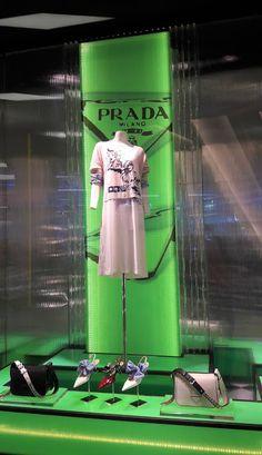 PRADA window display in Siam Paragon in Bangkok Fashion Store Display, Prada, Mannequin Display, Retail Windows, Retail Space, Window Displays, Popup, Retail Design, Visual Merchandising