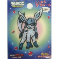 Pokemon Center 2013 Glaceon Embroidered Sticker
