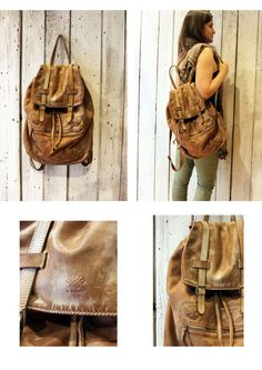 New Vintage Brown Handmade Italian Leather backpack di LaSellerieLimited su Etsy